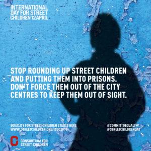 स्ट्रीट चिल्ड्रन 2019 के लिए अंतर्राष्ट्रीय दिवस - इंस्टाग्राम पोस्ट 1