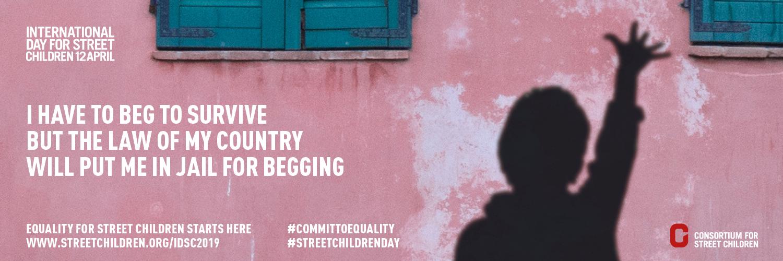 स्ट्रीट चिल्ड्रन 2019 के लिए अंतर्राष्ट्रीय दिवस - ट्विटर बैनर 1