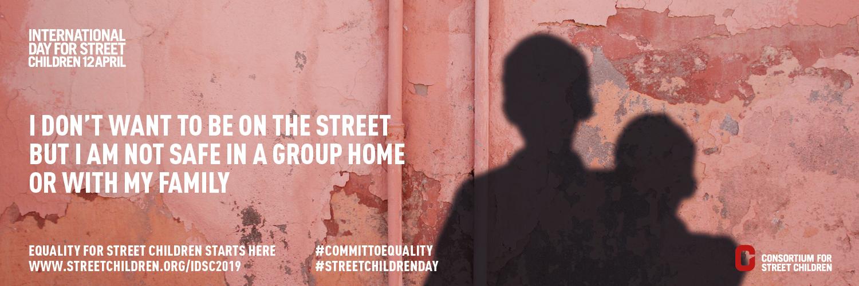 स्ट्रीट चिल्ड्रन 2019 के लिए अंतर्राष्ट्रीय दिवस - ट्विटर बैनर 3