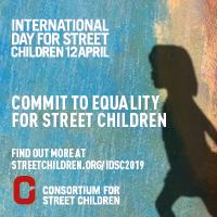 Journée internationale des enfants des rues 2019 - badge de réseau social