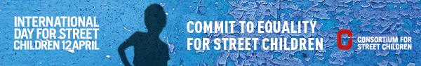 स्ट्रीट चिल्ड्रन 2019 के लिए अंतर्राष्ट्रीय दिवस - ईमेल बैनर