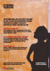 स्ट्रीट चिल्ड्रन 2019 के लिए अंतर्राष्ट्रीय दिवस - पोस्टर 1