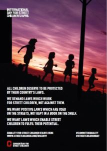 स्ट्रीट चिल्ड्रन 2019 के लिए अंतर्राष्ट्रीय दिवस - पोस्टर 2