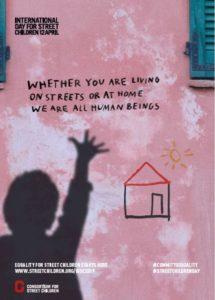 स्ट्रीट चिल्ड्रन 2019 के लिए अंतर्राष्ट्रीय दिवस - पोस्टर 4